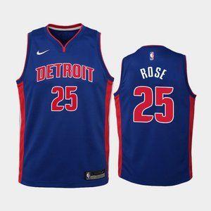 Women Detroit Pistons #25 Derrick Rose Jersey